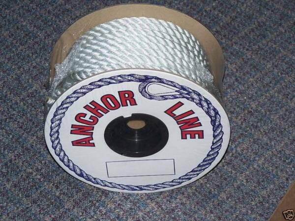 1 2#x27;#x27; Anchor Line 150 ft Nylon Twisted Premium Boating Boat Thimble Starsyn New