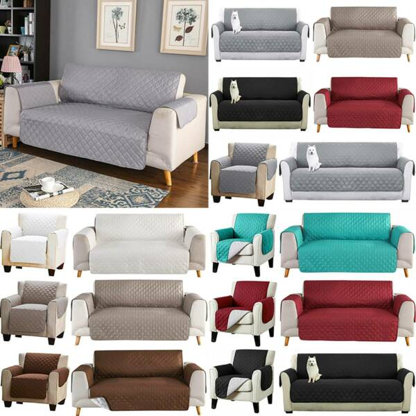 Reversible Furniture Protector Quilted Sofa Cover Pet Seat Mat Couch Slipcover $54.14