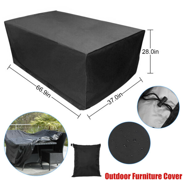 Waterproof Garden Patio Furniture Covers Rectangle Outdoor Table Rain Cover New $23.48
