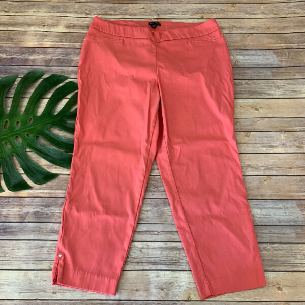 Willi Smith Womens Ankle Pants Plus Size 20 W Coral Pink Stretch Pull On