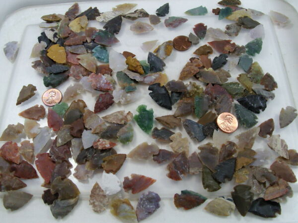 300 Pieces 1 2quot; 1quot; Assorted India Handmade Agate Arrowheads Bulk Lot FC 33 $40.00