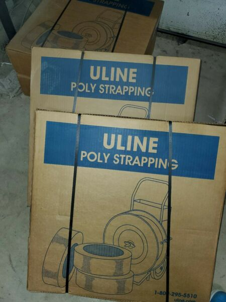 uline STRAPPING Poly Strap Banding Roll Supply Set  7200 black 。only  1  left