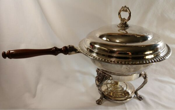 Vintage Buffet Chafing Dish W Lid Liner Stand amp; Burner party food warmer