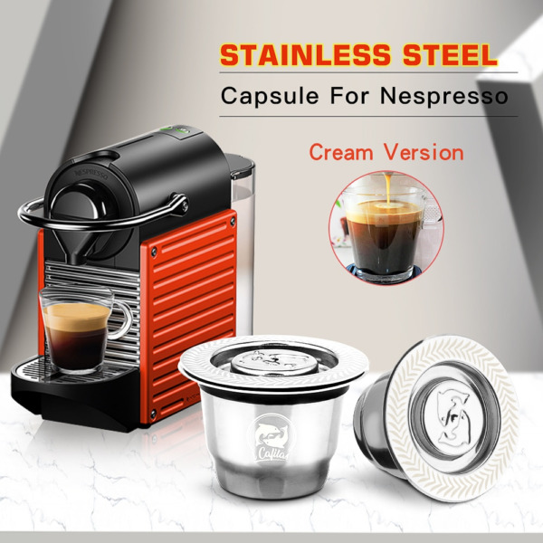 New Reusable Refillable Stainless Steel Coffee Capsule for Nespresso Machine