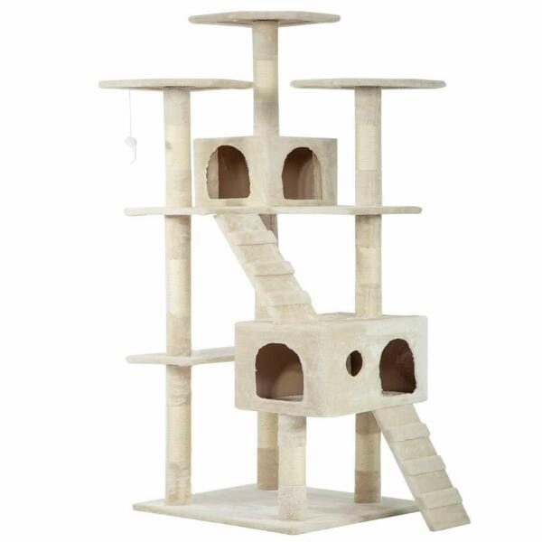 72quot; Cat Tree Condo for Indoor Cat Big Tower Giant Castle amp; Large Tall Furniture $90.11