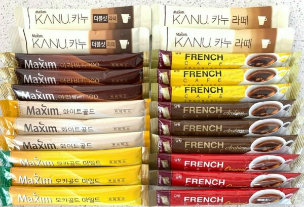 Korean Instant coffee mix Variety Pack Maxim Coffee amp; Namyang French Cafe $19.99