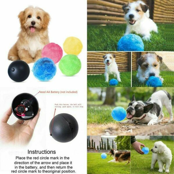 Magic Roller Ball Toy Automatic Pets Dog Cat Active Rolling Ball Toy Pet Toys  $11.99