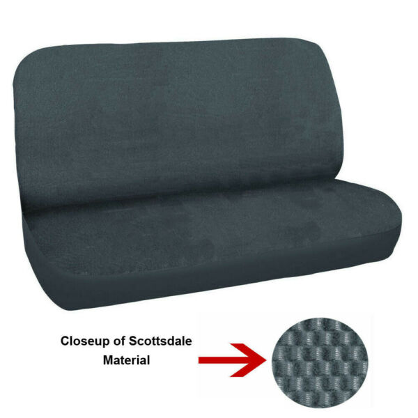Universal FULL SIZE Bench Truck Seat Cover Scottsdale Grey fits Chevy Ford Dodge $39.99