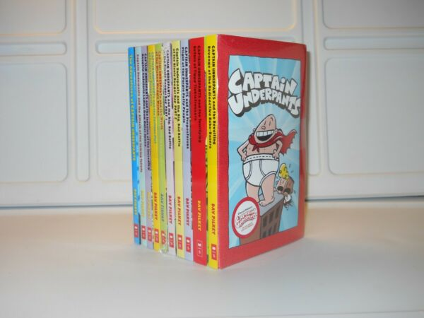 Captain Underpants Collection 10 Books Set by Dav Pilkey Paperback NEW