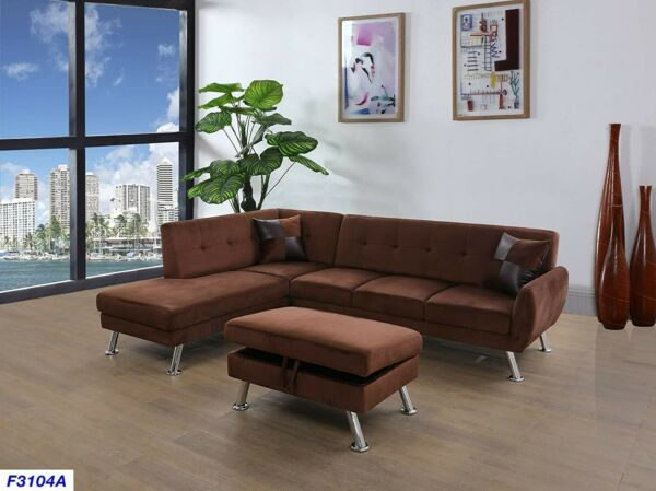 sectionalL shapefurnitureSectional with OttomanModern $848.00