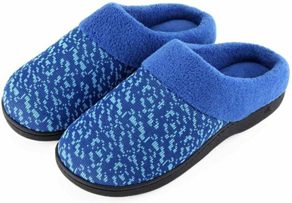 Wishcotton Women's Cozy Knit Memory Foam Slippers Coral Velvet Lining IndoorOut $18.45