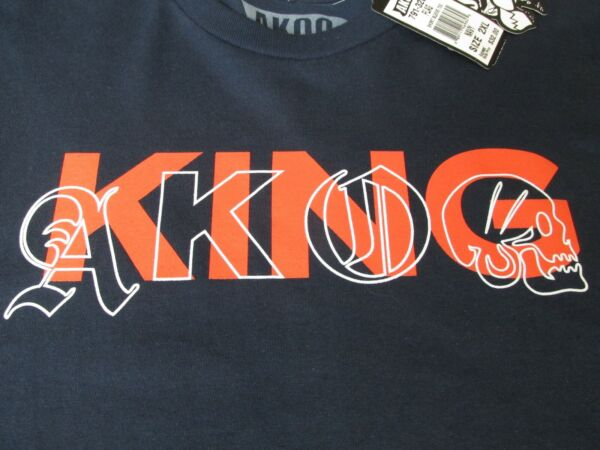 NEW AKOO FLAG Short Sleeve T Shirt Mens 2XL Navy Blue $32.00 KING