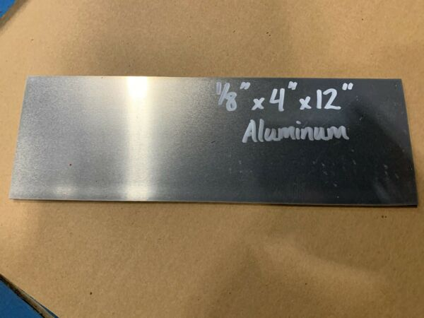 Aluminum Plate Bar 1 8quot; x 4quot; x 12quot; project stock