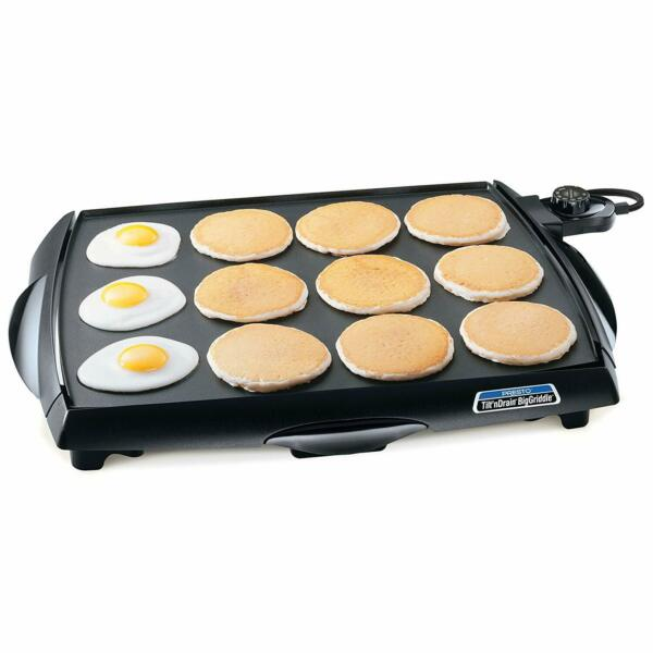 Presto Electric Griddle Large Tilt #x27;n#x27; Drain Nonstick Cookware Countertop Stove