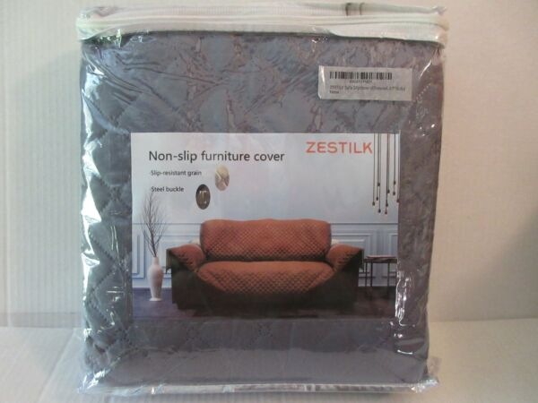 Non Slip Slipcover 67quot; Sofa Couch Cover Pet Dog Cat Kid Protector Charcoal Gray $15.99