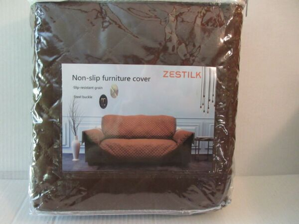 Non Slip Slipcover 54quot; Sofa Couch Cover Pet Dog Cat Kid Protector Brown Love Sea $15.99