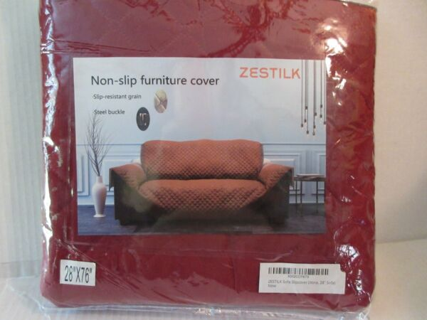 Non Slip Slipcover 28quot; Sofa Cover Pet Dog Cat Kid Protector Red Wine Love Seat $12.99