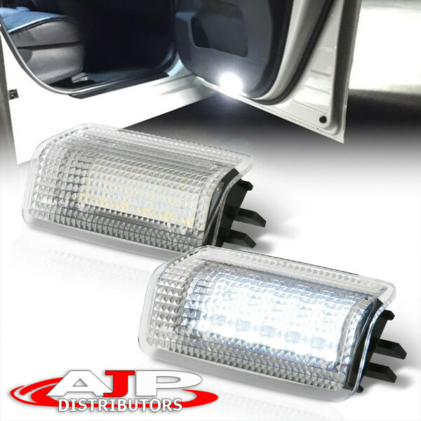 2pcs LED Foot Well Step Door Courtesy Lights Lamps For Lexus Toyota Universal