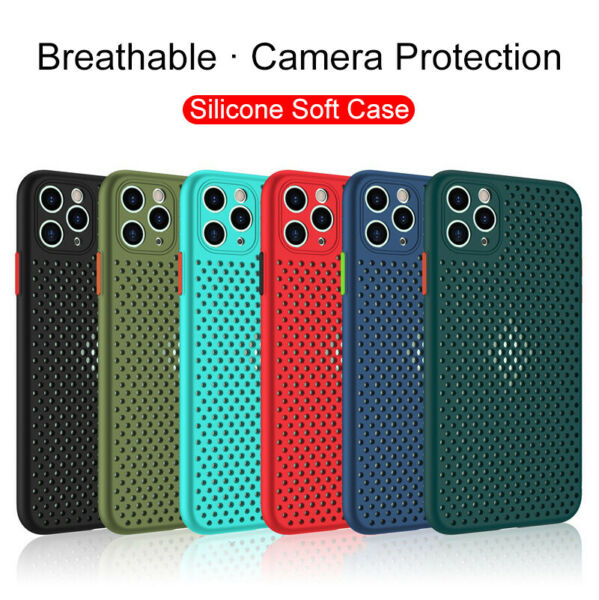 Silicone Case For iphone 11 Pro Max SE2020 XS XR 7 8 Plus Shockproof Cover