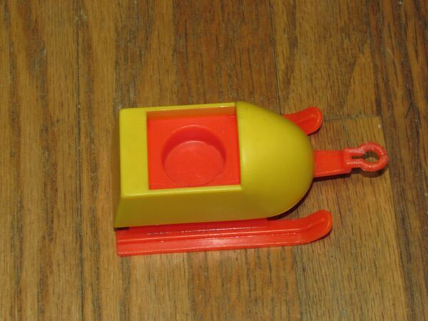 Vintage Fisher Price Little People #705 Mini Snowmobile Snow Ski Sled part