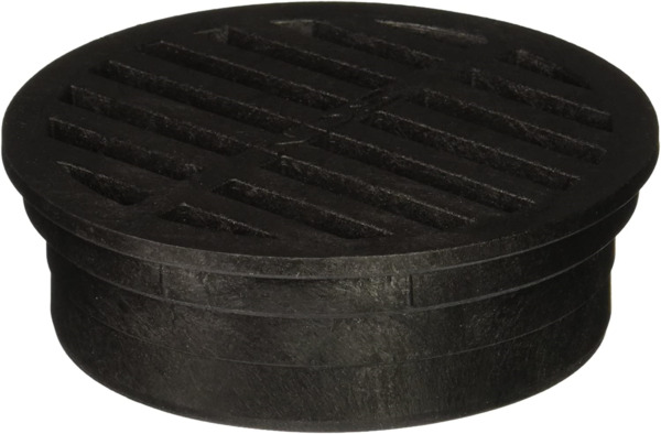 Plastic Round Grate Use to drain excess water Black 4 Inch