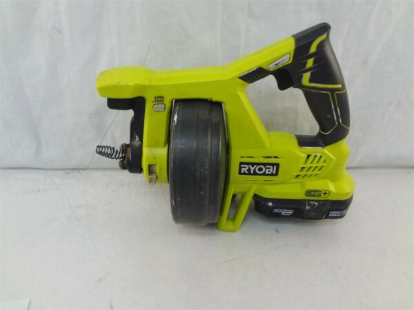 Ryobi One+ P4001 600 RPM 18V Cordless 25' Ft. Drain Auger Clears Up To 2
