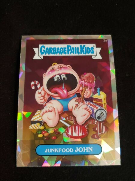 2013 GARBAGE PAIL KIDS CHROME SERIES 1 JUNKFOOD JOHN 2a ATOMIC REFRACTOR