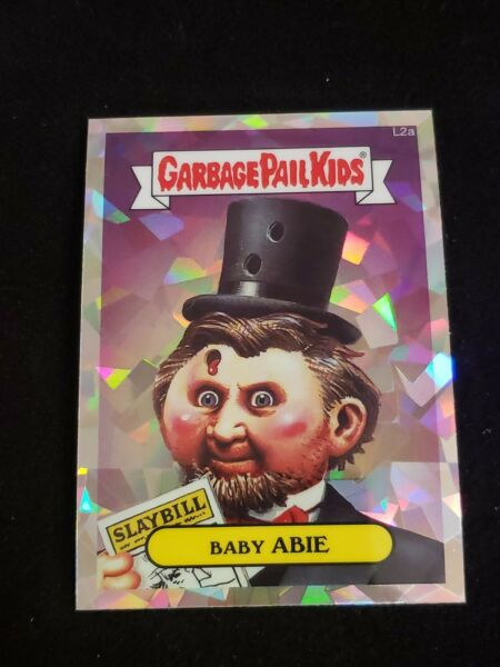 2013 GARBAGE PAIL KIDS CHROME SERIES 1 LOST L2a BABY ABIE ATOMIC REFRACTOR