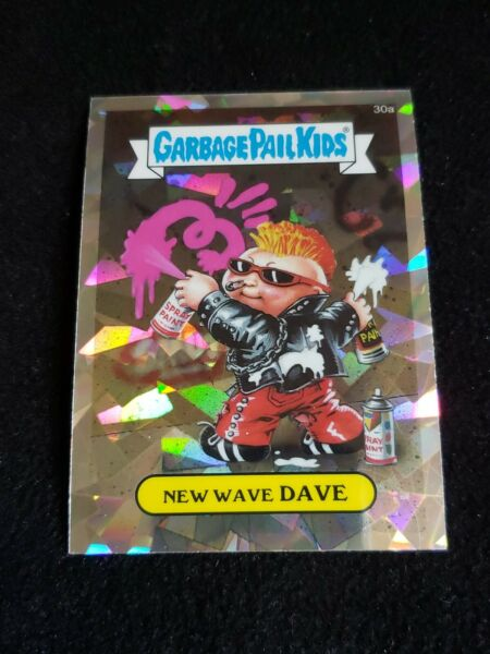2013 Garbage Pail Kids Chrome 30a New Wave Dave Atomic Refractor Topps GPK