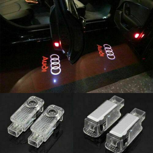 2pcs For Audi LED Light Logo Projector Emblem Ghost Shadow Lights Door Lights