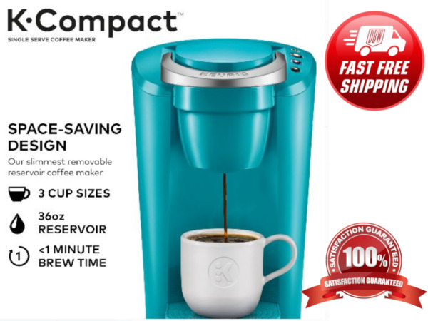 Keurig K Compact Single Serve K Cup Pod Ground Brewer Coffee Maker Turquoise