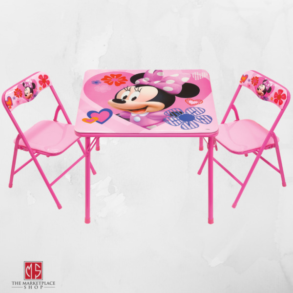 Minnie Mouse Activity Table and Chair Set Kids Playroom Furniture Learn Play Eat