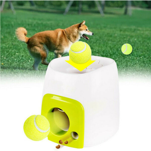 New Automatic Pet Dog Launcher Tennis Ball Toy Interactive Fetch Chucker Thrower $40.84