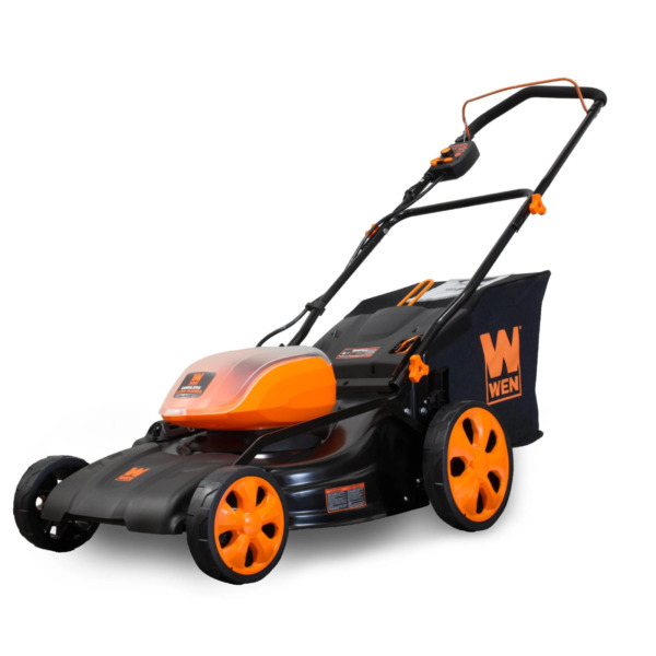 Wen 40V Max Lithium Ion 19-Inch Cordless 3-in-1 Lawn Mower w 16-Gallon Bag