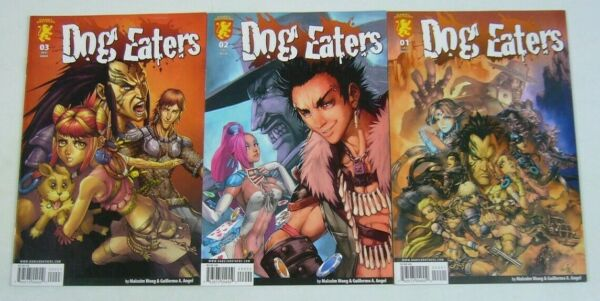 Dog Eaters #1 3 VF NM complete series mankind fails to transcend petroleum age $22.55