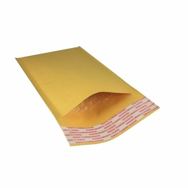 """30 Pack 4quot; x 7"""" #000 Kraft Bubble Mailers Self Seal Padded Shipping Envelopes"""