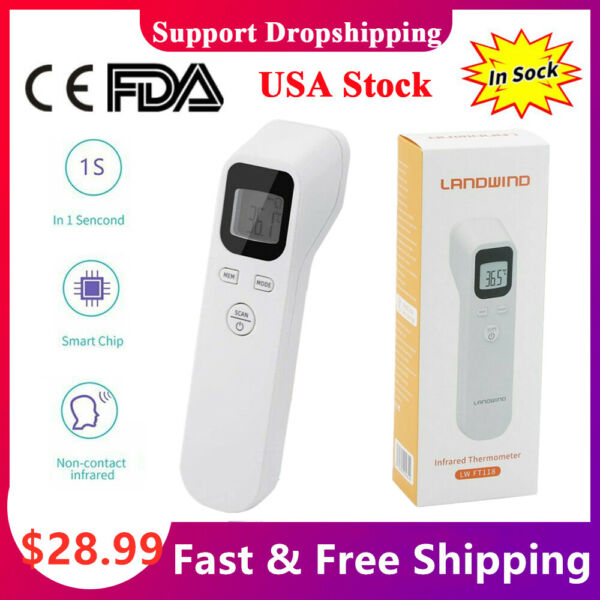 Non-contact IR Thermometer Termometro Accurate Reading Baby Adult Digital LCD CE
