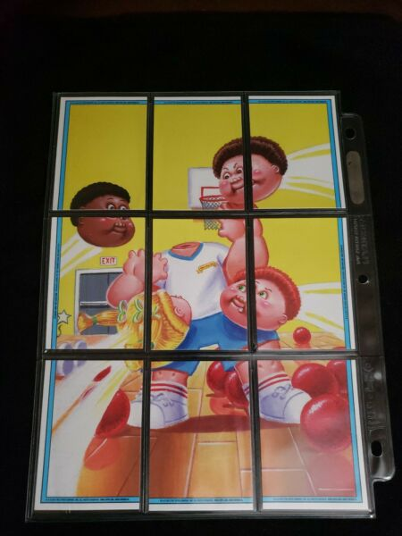 2013 Garbage Pail Kids Complete 9 Card Puzzle Back Lot BNS 3 DODGE BILL JIM GYM
