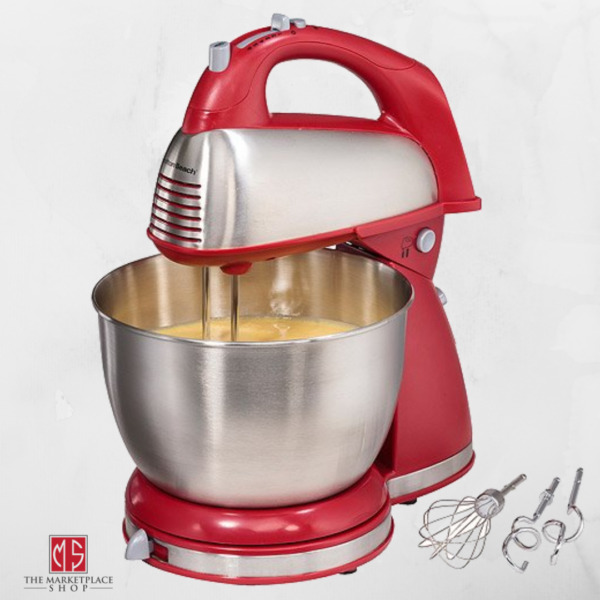 Classic Hand Stand Mixer Countertop Mixers Home Kitchen Baking Stainless Red