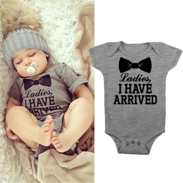 Newborn Baby Boy Clothes Short Sleeve Romper Bodysuit Playsuit Jumpsuit Sunsuit
