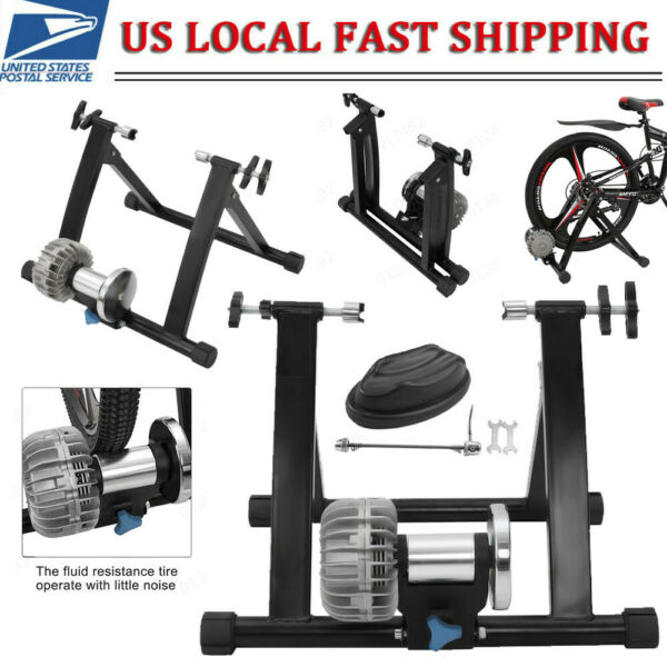 Fluid Bicycle Trainer Stationary Bike Cycle Stand Indoor Exercise Training Bench $109.99