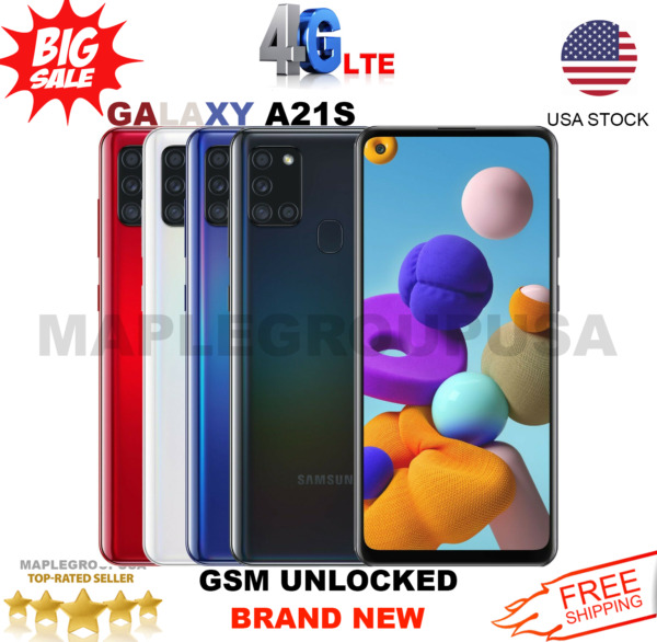 Samsung Galaxy A21S 64GB GSM UNLOCKED 6.5quot; Duos T Mobile ATamp;T MetroPcs NEW $199.95