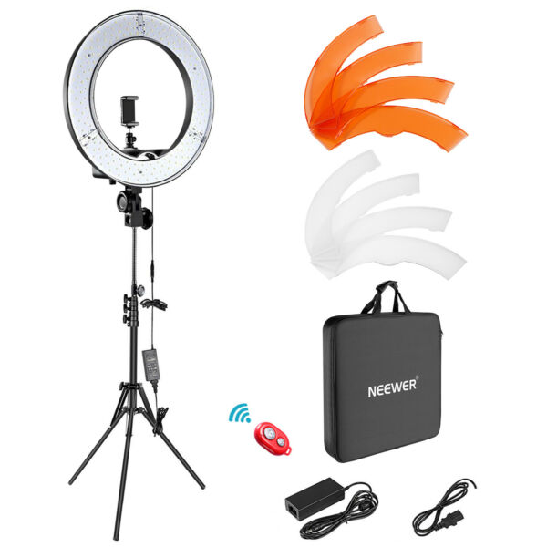 Ring Light Kit 18quot; 48cm Outer 55W 5500K Dimmable LED Ring Light