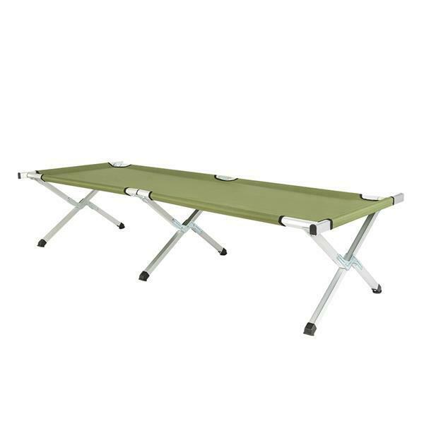 RHB-03A Portable Folding Camping Cot with Carrying Bag for Hiking Army Green US