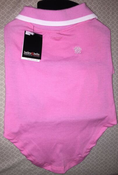 Bailey amp; Bella Couture Pink Polo Shirt Pet Dog Medium L $9.97
