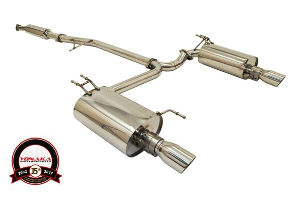 Yonaka 2004-2008 Acura TSX Polished Stainless Steel Dual Catback Exhaust CL9 K24