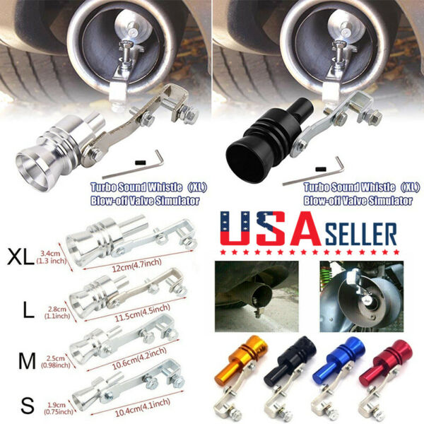 S/M/L/XL Car Turbo Exhaust Pipe Oversized Roar Maker Sound Whistle Simulator USA