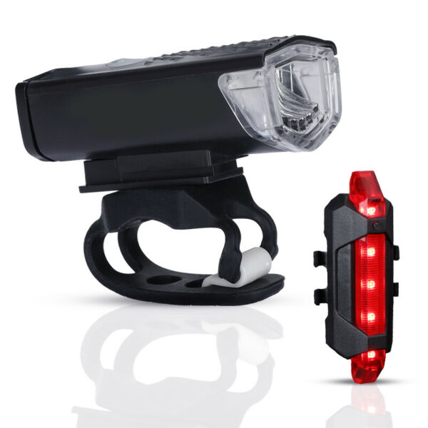 Waterproof USB Rechargeable Mountain Bike Lights Bicycle Torch Front amp; Rear Lamp $14.73