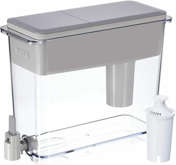 Water Dispenser with 1 Filter BPA Free Gray Extra Large