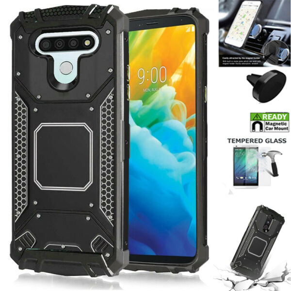 Phone Case For LG Stylo 6 Stylo 6 Case Heavy Duty Shock Absorbing Metal Cover